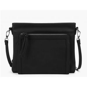 Sole Society SIIA Black Faux Leather Crossbody
